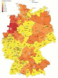 Antibiotika-Abgabemengen 2015 ; Bildquelle: Bundesamt für Verbraucherschutz und Lebensmittelsicherheit