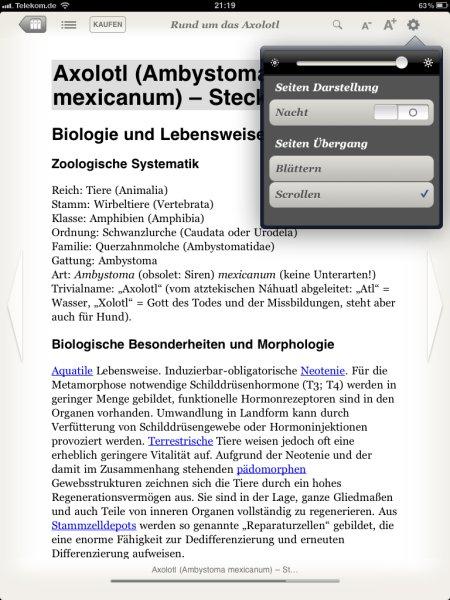 Die erste App über das Axolotl jetzt erhältlich