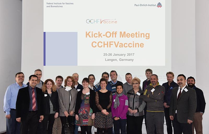 Teilnehmerinnen und Teilnehmer des Kickoff-Meetings im Paul-Ehrlich-Institut
