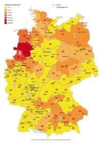 Regionale Zuordnung der Antibiotika-Abgabemengen 2015; Bildquelle: BVL