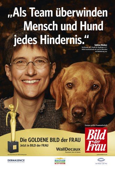 Stimmen Sie für Tierärztin Sabine Häcker und die Assistenzhunde