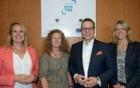 Christina Jantz-Herrmann (SPD), Birgit Menz (DIE LINKE), Tino Sorge (CDU) und Kristina Richter (Mars-Initiative Zukunft Heimtier) (v. l. n. r.) blickten gemeinsam mit Gästen aus Politik, Wissenschaft und Fachwelt auf zwei Jahre Forum Heimtier zur& Bildquelle: Forum Heimtier/Michael Wittig