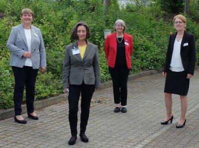 v.l. Hannelore König, Karin Becker-Oevermann, Ingrid Gerlach, Stephanie Schreiber; Bildquelle: Bundesvorstand Verband medizinischer Fachberufe