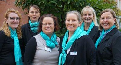 von links: Stephanie Schreiber, Silke Schudera, Sabine Radtke, Susanne Geller, Tanja Lüders, Ute Winkler; Bildquelle: Verband medizinischer Fachberufe e.V.