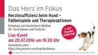 Kostenloses Webinar: Herzinsuffizienz beim Hund � Fallbeispiele und Therapieoptionen