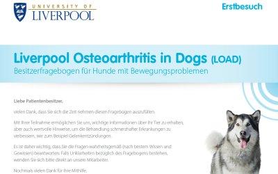 """""""LOAD"""" beim Monitoring von Osteoarthritis bei Hunden"""