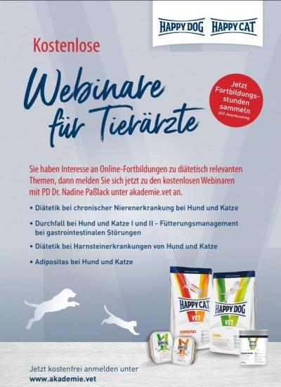 Kostenloses Webinar: Diätetik von Leber- und Pankreaserkrankungen bei Hund und Katze