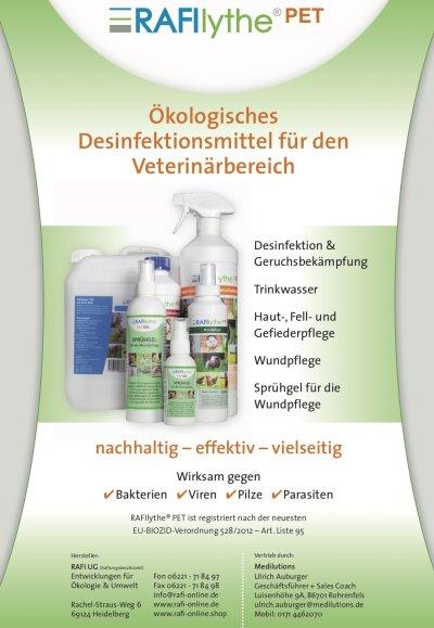 Rafilythe Pet - Nachhaltige Desinfektion fuer Ihre Praxis