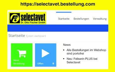 Webshop bei Selectavet