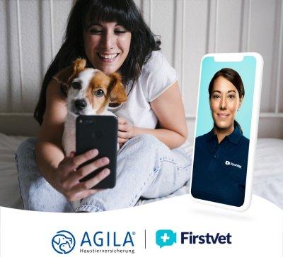AGILA Haustierversicherung bietet in Kooperation mit FirstVet einen neuen Telemedizin-Service